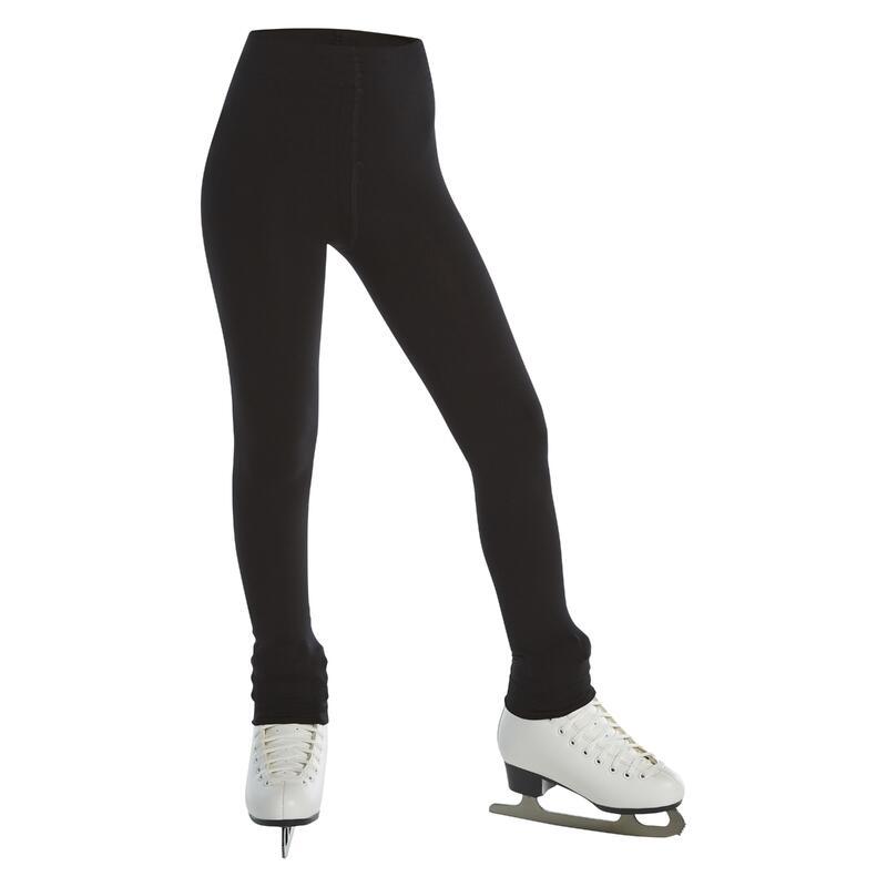 Kids' Footless Figure Skating Tights - Black