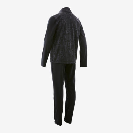 Спортивний костюм GYM'Y S500 для хлопців, теплий - Чорний з принтом