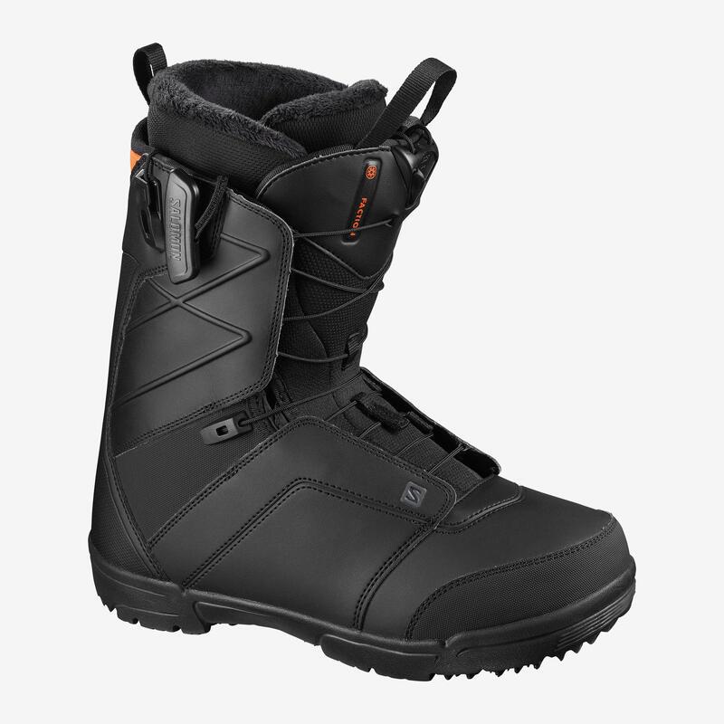 Botas snowboard hombre, salomon faction, all mountain, negro