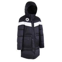 青少年款足球運動長版外套500CN - 黑色