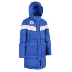 青少年款足球長版外套500CN - 寶藍色