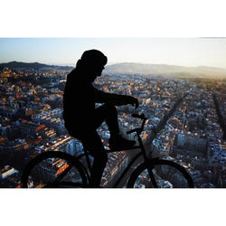 Fahrrad Regenjacke City 540 Herren Sichtbarkeit PSA-zertifiziert marineblau