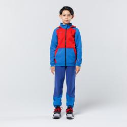 兒童款中階籃球運動外套J500 - 藍紅配色