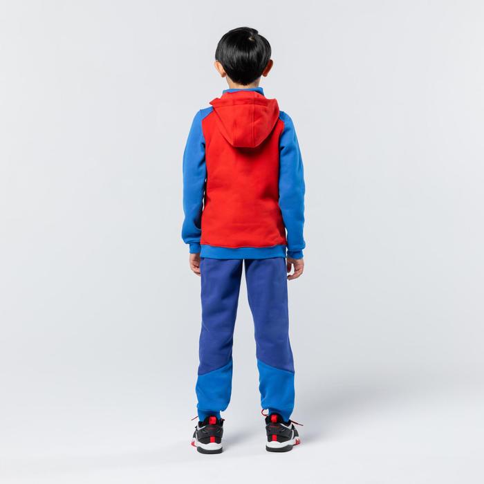 男孩款/女孩款中階籃球褲P500 - 藍色