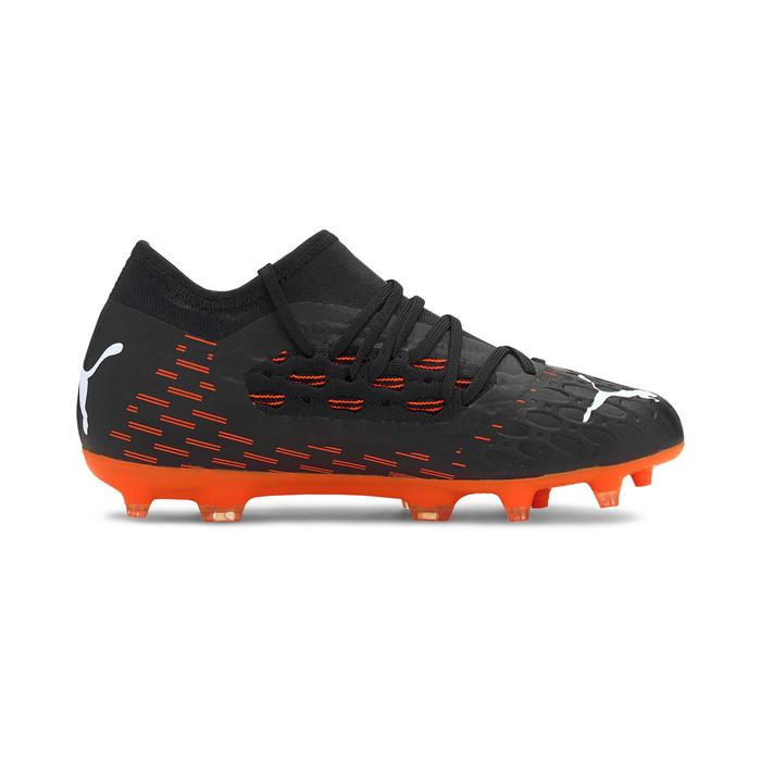Voetbalschoenen kind Future 6.3 Netfit FG/AG zwart/oranje