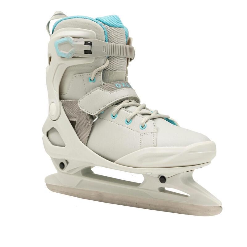 Women's Ice Skates Fit 500 - Grey/Turquoise