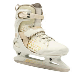 Patins à glace adulte FIT520 WARM femme beige