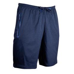 Short de football avec poches zippées adulte F500Z bleu foncé