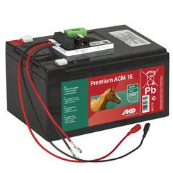 Bateria SOLAR AGM de 12 volts 15Ah para eletrificador de cerca equitação