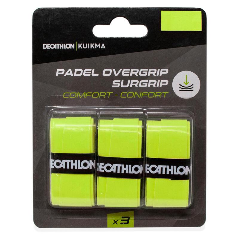Padel overgrip comfort geel x3