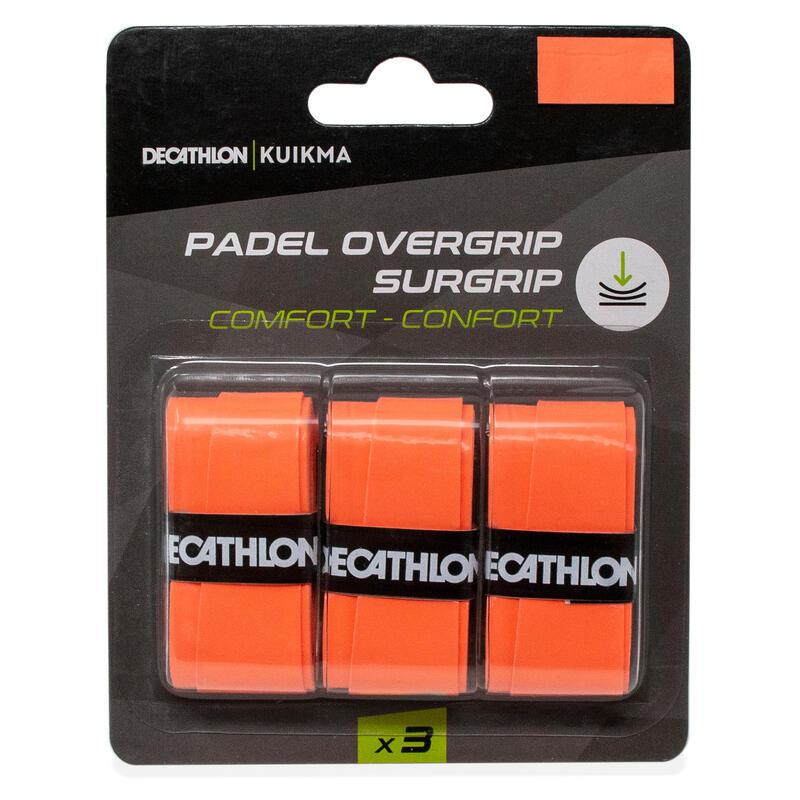 Padel overgrip comfort oranje x3