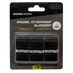 Padel overgrip comfort zwart x3