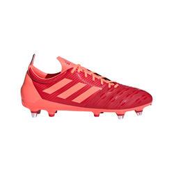 chaussure de rugby terrains gras hybride malice SG adulte orange Adidas