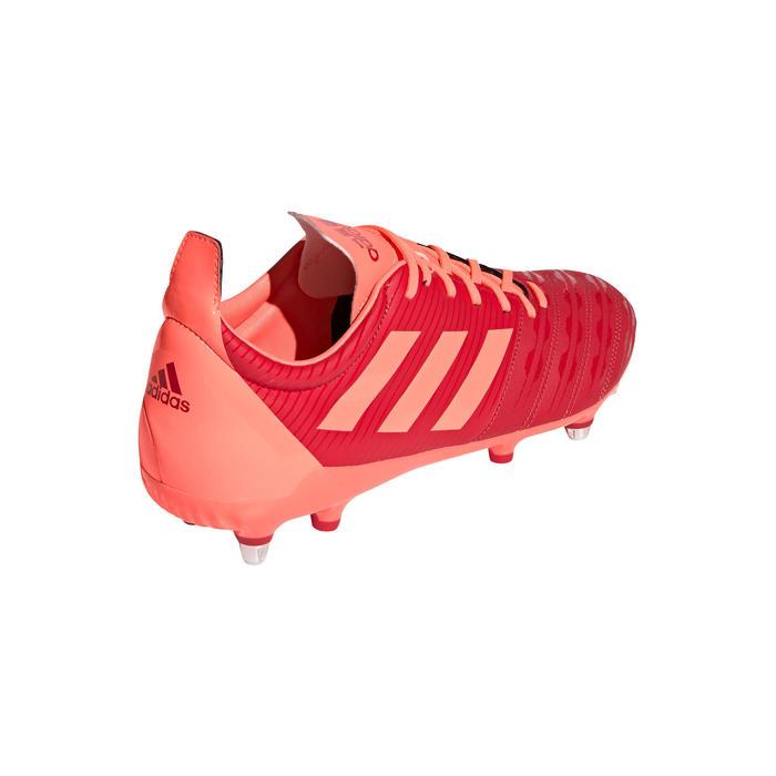 chaussures de rugby terrains gras hybride malice SG adulte orange Adidas