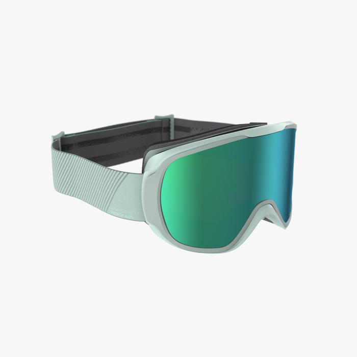 Skibrille Snowboardbrille G 500 I Allwetter Erwachsene/Kinder grün