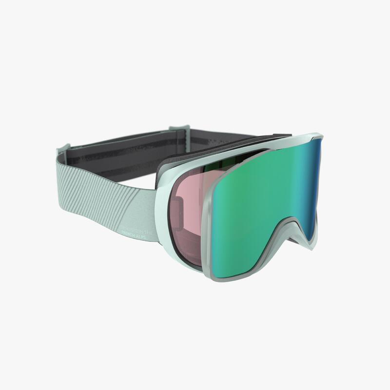 Ski- en snowboardbril voor volwassenen en kinderen G 500 I alle weertypes groen