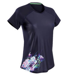 T-shirt fitness cardio training femme print fleur 521