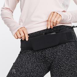 Hardloop heupband voor smartphone in elk formaat en sleutels Comfort zwart
