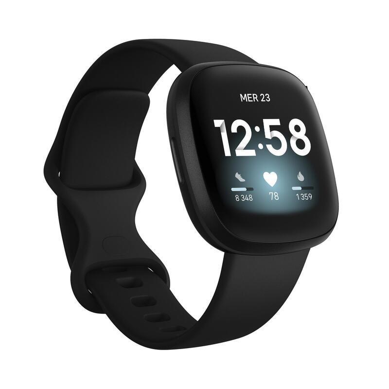 Fitbit Versa 3 Reloj Inteligente Smartwatch Con GPS Pulsómetro Muñeca Negro