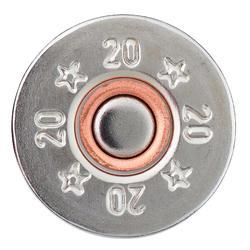 CARTOUCHE CALIBRE 20/70 L100 24G HAUTE PRESSION ACIER N°4X25