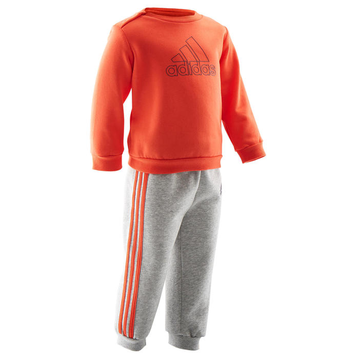 Survêtement baby rouge et gris logo sur la poitrine Adidas