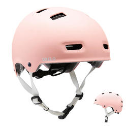 Casque roller skateboard trottinette MF500 bridal pink