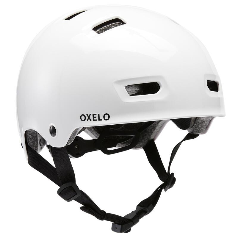 Helm voor inlineskaten skateboarden steppen MF500 wit