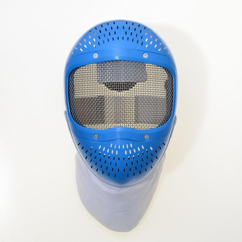 Careta esgrima iniciacion infantil nasicon azul