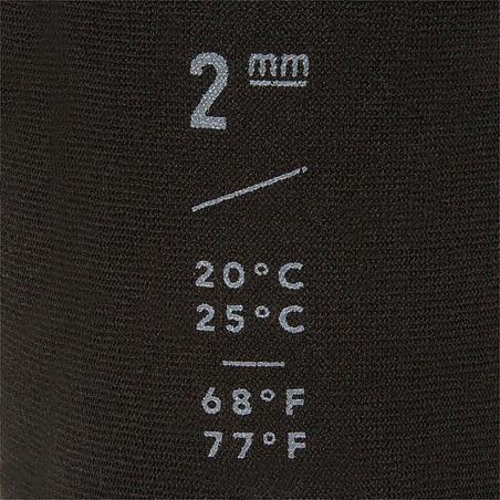 """100 גרבי ניאופרן לגלישה ובודיבורד 2 מ""""מ גובה בינוני צבע שחור"""