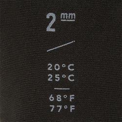 Surfschoenen 100 neopreen 2 mm zwart