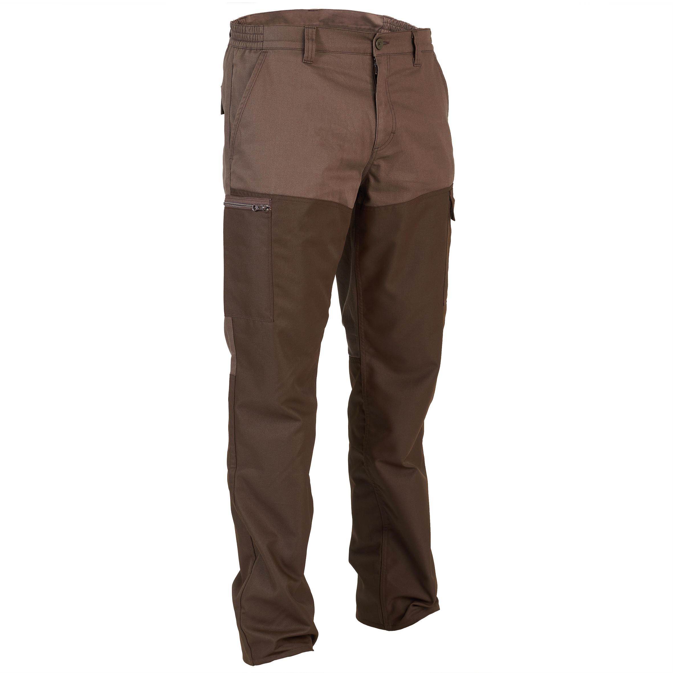 Pantalon 100 Vânătoare Maro imagine