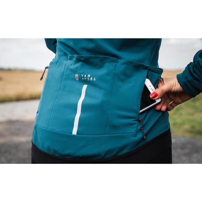 Fietsshirt met lange mouwen voor dames RCR smaragdgroen