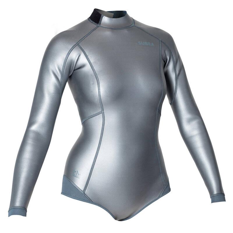 FREE DIVING SUITS Potápění a šnorchlování - DÁMSKÝ NEOPRENOVÝ TOP FRD 500 SUBEA - Potápění