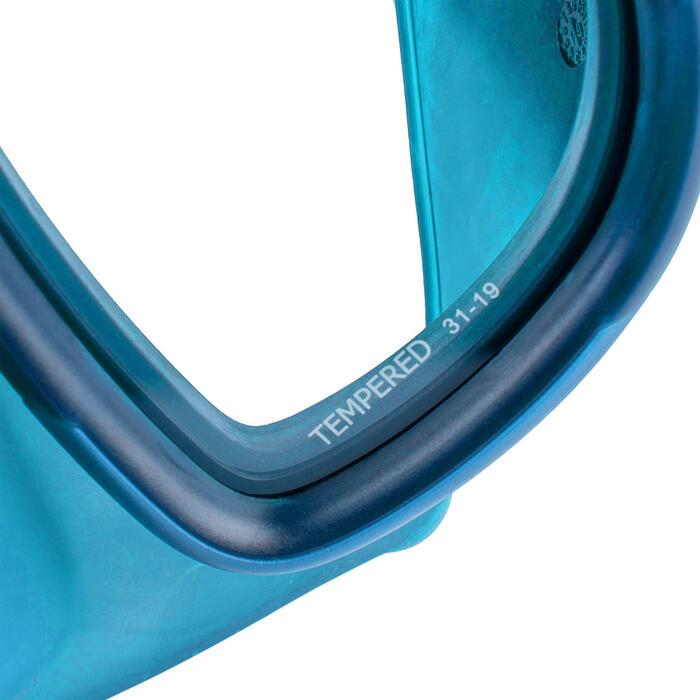 Masque d'apnée FRD 500 bi hublot bleu, volume réduit