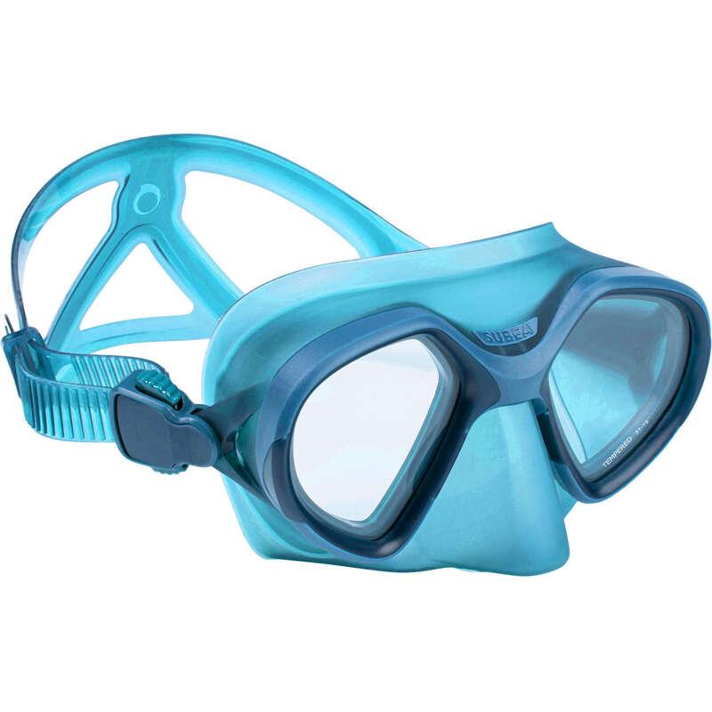 FREE DIVING FINS, MASKS, SNORKELS & ACC Dykning och Snorkling - Dykmask FRD 520 blå SUBEA - Snorkling