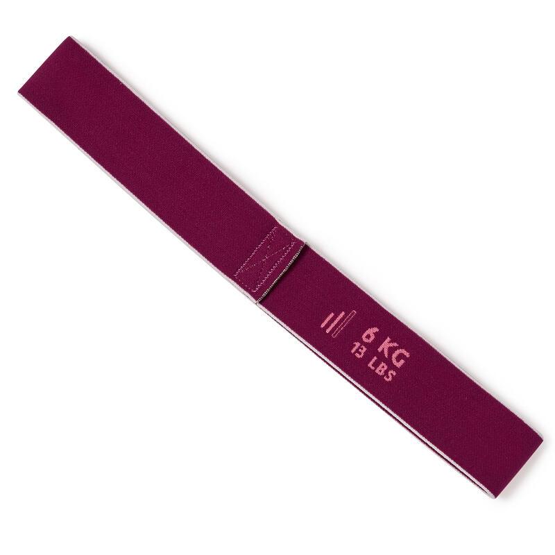 Bandă elastică textilă scurtă 6KG/13LBS Bordo