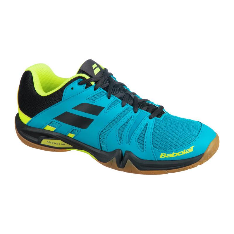 Chaussure de Badminton, Squash et sports indoor Shadow team Malibu Bleu