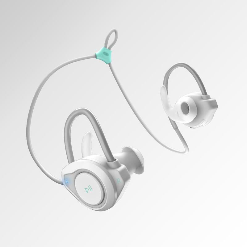KALENJI 500 EARPHONES WIRELESS BLUETOOTH - WHITE