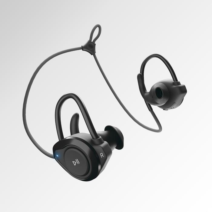 KALENJI 500 EARPHONES WIRELESS BLUETOOTH - BLACK