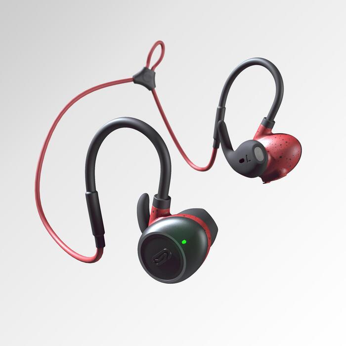 KALENJI 900 EARPHONES WIRELESS BLUETOOTH - RED
