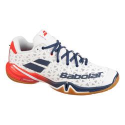 Chaussure de BADMINTON, SQUASH, SPORTS INDOOR SHADOW TOUR Blanc