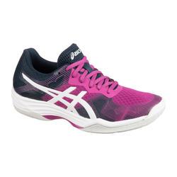 Calçado de Badminton, Squash, Desportos Indoor GEL-TACTIC DIGITAL VIOLETA/BRANCO