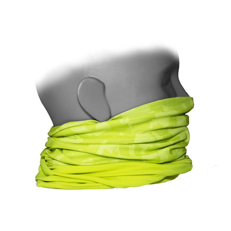 Dual-Fabric Neck Warmer 500 - Neon Yellow