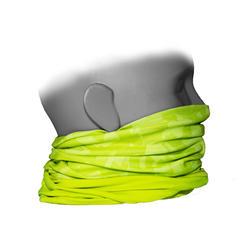 Nekwarmer in 2 materialen voor fietsers 500 fluogeel