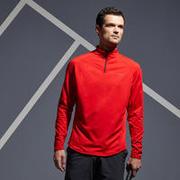 1/2 Zip Long-Sleeved Thermal Tennis T-Shirt TSW - Red