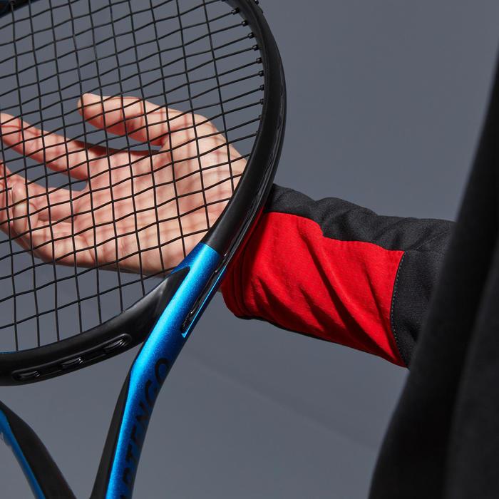 THERMOSHIRT VOOR TENNIS 1/2 RITS ZWART/ROOD
