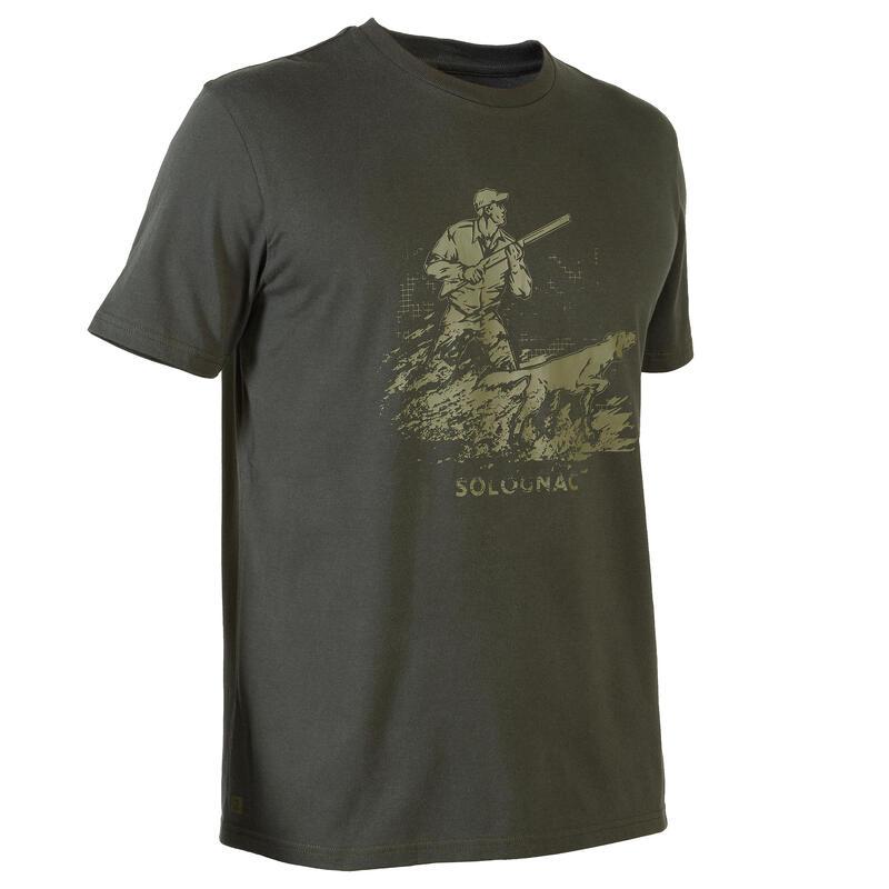 T-shirt met korte mouwen voor de jacht 100 voorstaande hond
