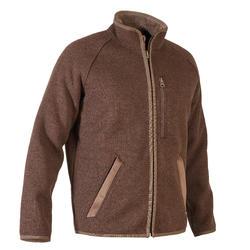 Fleecejack voor jagen in gerecycled polyester 900 bruin