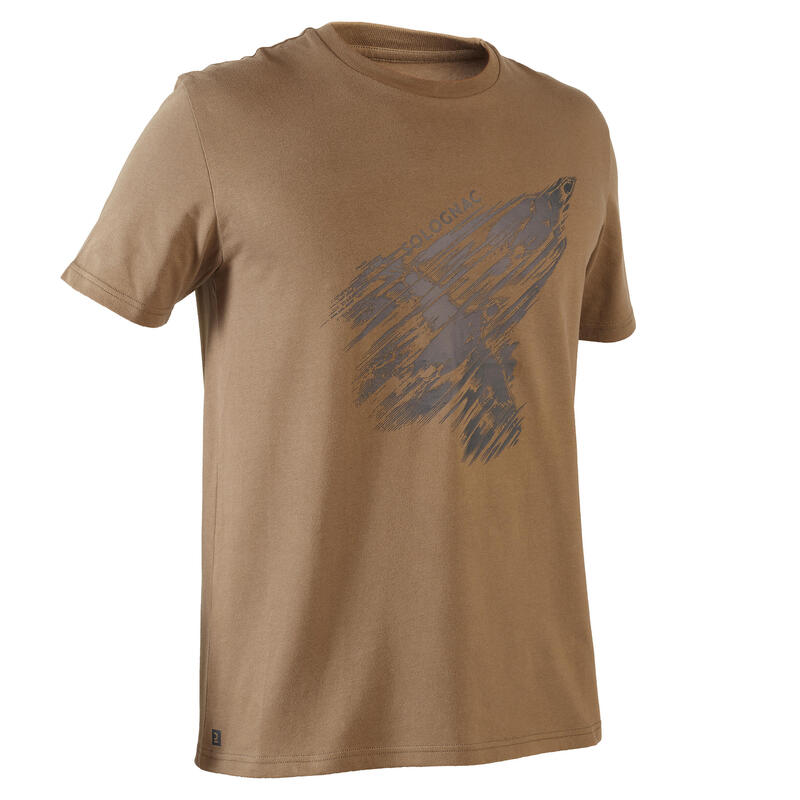Short-sleeve hunting T-shirt 100 -Partridge