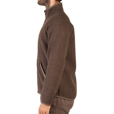 """Medžioklinis fliso bluzonas """"900"""", rudas, iš perdirbto poliesterio"""